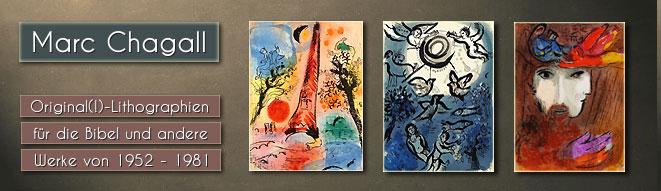 Original-Lithographien von Marc Chagall: Bilder zur Bibel, Paris, Verve, Mourlot